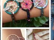 hermosas pulseras atrapasueños colores