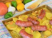 Butifarra patatas horno