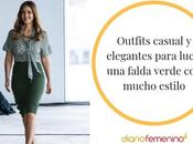 Falda Verde Corta Outfit