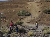 Ruta Cañadas Montaña Blanca junto Teleférico Parque Nacional Teide