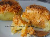 Patatas rellenas atún queso
