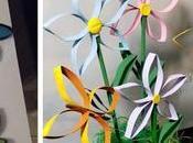 Hermosas flores reciclando tubos papel baño