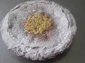 Tarta cubierta bizcocho chocolate crema