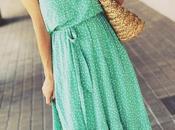 Vestido verde topos