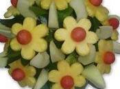 Ramos flores frutas frescas para regalar Macheri Flowerfruits