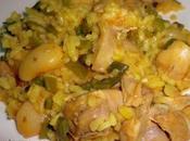 Paella pollo conejo (Whole kitchen)