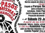Marcha Popular Indignada llega Barrio Pilar