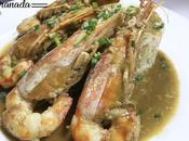 Gambas leche coco curry