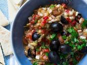 Ensalada griega berenjena asada melitzanosalata