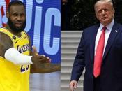 Trump volvió criticar protestas anti racismo LeBron James desafió