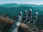 """puente manos gigantes. Vang """"puente dorado"""", Vietnam"""