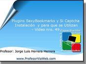 Plugins 'sexy book marks' captcha instalación'