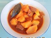 Guisillo patatas carne, guiso andaluz
