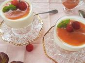 Panna cotta yogur coulis madroños