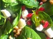 Ensalada espinacas granada pera