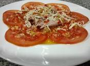 Carpaccio tomate atún vinagreta