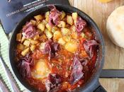Huevos plato cecina, receta desayuno perfecto para disfrutar pareja