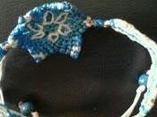 Polsera flor-mandala blau blanc