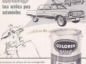 Colorín laca acrílica para automóviles 1966