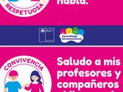 láminas sobre mensajes para reforzar normas convivencia escolar interior comunidades educativas.