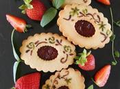 Galletas pintadas rellenas Mermelada Fresa