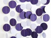 Diy: Guirnalda círculos corazones papel cosidos máquina como fondo fotos boda