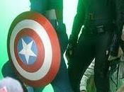 ¡capitán américa, viuda negra halcón acción!