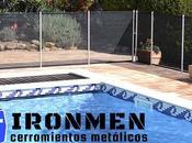 Este verano, poner valla piscina proteger familia. Cerramientos IRONMEN
