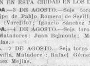 Santander:la programación taurina hace años