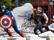 Fotos Capitán América, Halcón, Viuda Negra y... Stan 'The Avengers'
