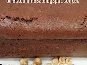 Bizcocho avellanas chocolate