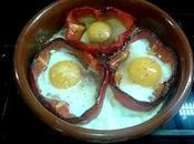 Pimiento rojo relleno huevo frito