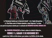 Invitación Encuentro Feminista Preparatorio, Valparaíso 2011