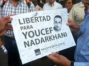 Manifestación ante embajada Irán libertad Yusef Nadarjani