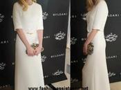discreto encanto elegancia sencillez: Kirsten Dunst gala Bulgari Nueva York
