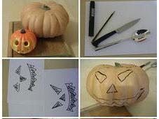 Vaciar decorar calabaza para Halloween