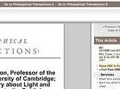 Royal Society libera archivo histórico Internet