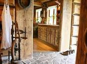 Interiores cabaña rústica