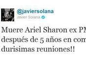 Javier Solana mató Ariel Sharon Twitter