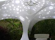 Estructura orgánica para jardín