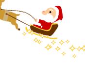 Coloca Santa Claus volando sitio