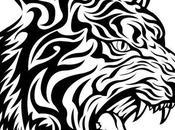 Tigre tribal vectorizado