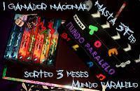 Sorteo Tres Meses blog Mundo Paralelo
