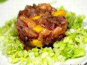 Tartar ahumados mango aliño mostaza