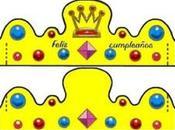 Plantillas coronas infantiles cumpleaños