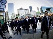 país liberté Sarkozy llega centro CNIT,