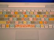 Decorar teclado washi tape