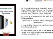 Presunción inocencia. Riesgo, delito pecado femenino Córdoba enero 2012