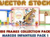 Pack Vectores Marcos Infantiles