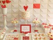 mesa dulces Valentín